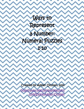 Number Puzzles 1-10: Ways to Represent a Number