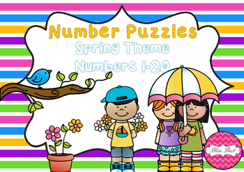 Number Puzzles 1-20 Spring Theme