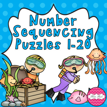 Number Puzzles 1-20 Under The Sea Theme