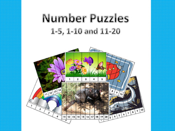 Number Puzzles - 1-5, 1-10 and 11-20