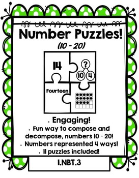 Number Puzzles: Compose and Decompose numbers 10 – 20