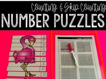 Number Puzzles: A Counting & Skip Counting Activity (Anima