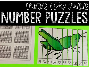 Number Puzzles: A Counting & Skip Counting Activity (Insec