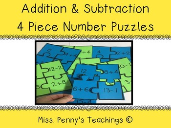 Number Puzzles (Addition and Subtraction within 20)