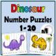 Number Puzzles Bundle-Numbers 1-20–Farm Math, Dinosaur Mat