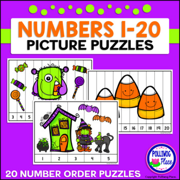 Number Puzzles: Counting 1-20 - Halloween