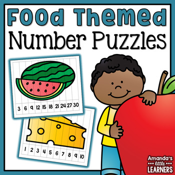 Number Puzzles - Food (Skip Counting)