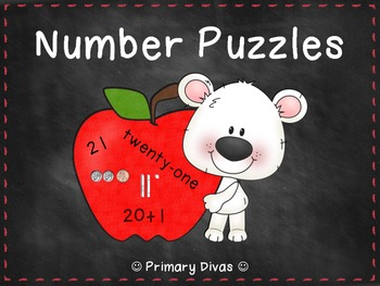 Number Puzzles - Match Coins, Base Ten, Numbers, Expressio