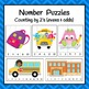 School Theme Number Puzzles for Rote Counting and Skip Counting