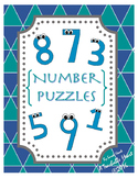 Number Puzzles for 1-20- HOLIDAY Number Puzzles for the WH