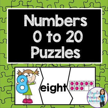 Number Puzzles from 0 to 20