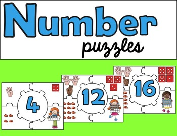 Number Puzzles or Anchor Charts
