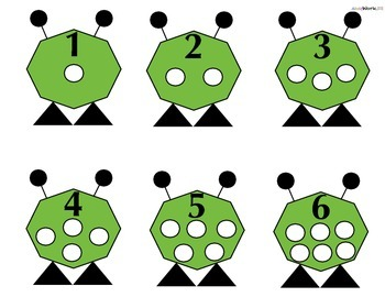 Number Quantity Monster Activity Mat