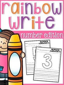 Number Rainbow Write Sheets