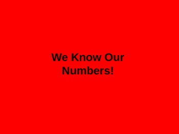 Number Recognition