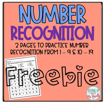 Number Recognition 1 - 19