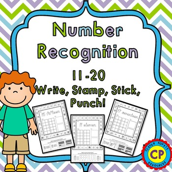 Number Recognition and Counting 11-20 - Write, Stamp, Stic