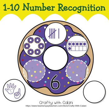 Number Recognition Activity, Math Center Activity in Cute