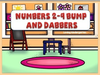 Number Recognition Bump Game  & Number Dabbers #s 2-9