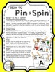 Number Recognition (Counting)- A Pin & Spin Activity