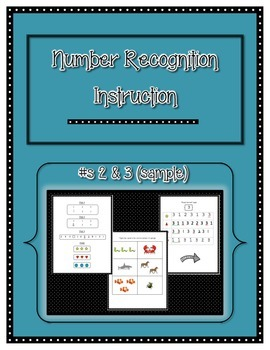 Number Recognition and Identification Instruction- Sample