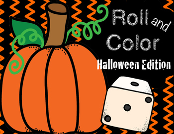 Number Recognition - Halloween Dice Game