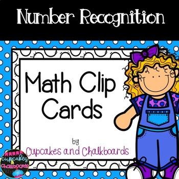 #dealsinoctober   Number Recognition Math Clip Cards: Numb