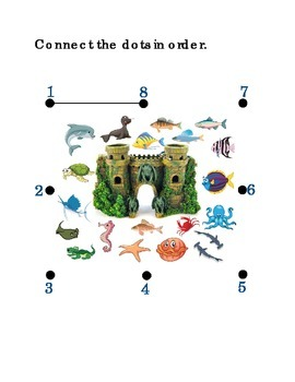 Number Recognition Number Eight 8 Connect the Dots Fish Ta