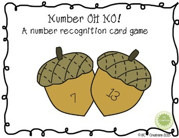 Number Recognition - OH NO Game
