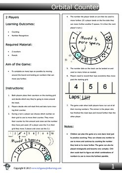 Number Recognition and Counting Game - Orbital Counter