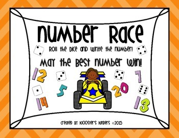 Number Recognition and Writing - Number Race and Dice Game