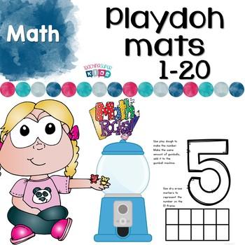 Playdoh Mats Number Activities
