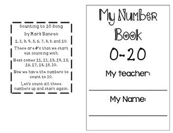 Number Representation Book 0-20