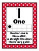 Number Rhyme Polka Dot Ten Frame Posters and Worksheets