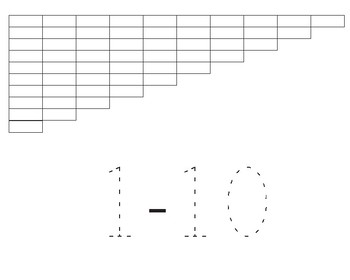 Number Rods / Table top rods Worksheet