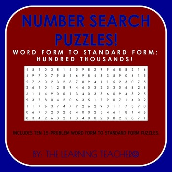 Number Search (Word Form - 100,000's)