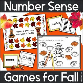 Number Sense Games Fall 0-5, 0-10, 11-20