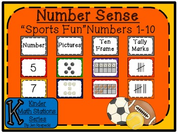 Number Sense 1-10 Sports!-Kinder Math