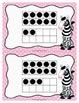 Number Sense Activity Teen Numbers 10-19- Zebra Theme