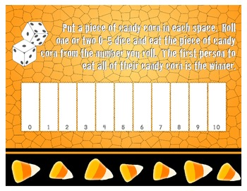 Number Sense Candy Corn Game-Numerals Edition 0-10