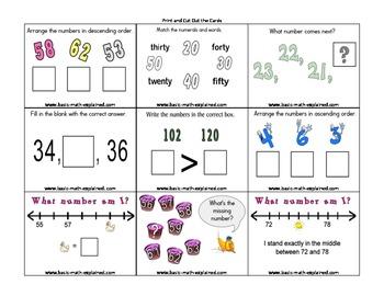 Number Sense Cards