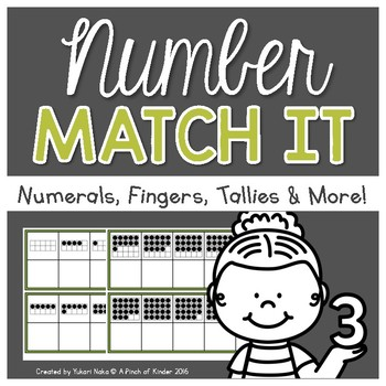 Number Sense Centres: Number Match It!