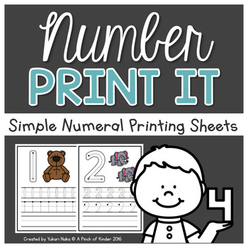 Number Sense Centres: Number Print It!