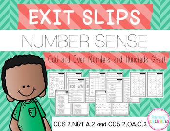 Number Sense Exit Slips