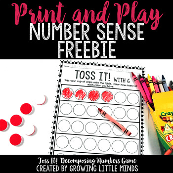 Number Sense Freebie:  Toss It!