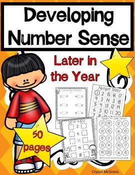 Number Sense Later In The Year! 50 Kindergarten Counting/C
