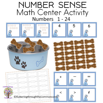 Counting Number Sense Match Picture Card to Number Card