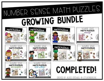 Number Sense Math Puzzles Growing Bundle