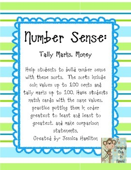 Number Sense: Money, Tally Marks