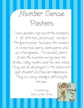 Number Sense: Number Posters